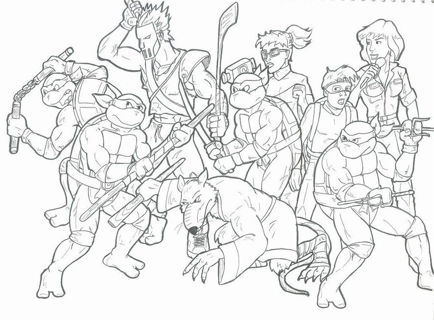 Funny Ninja Turtles Coloring Pages - Ninja Turtles Coloring Pages
