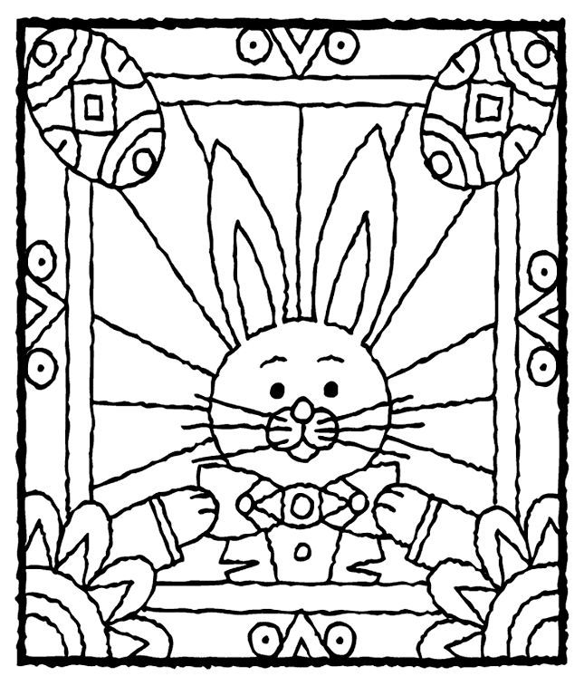 Easter Bunny Stained Glass Window