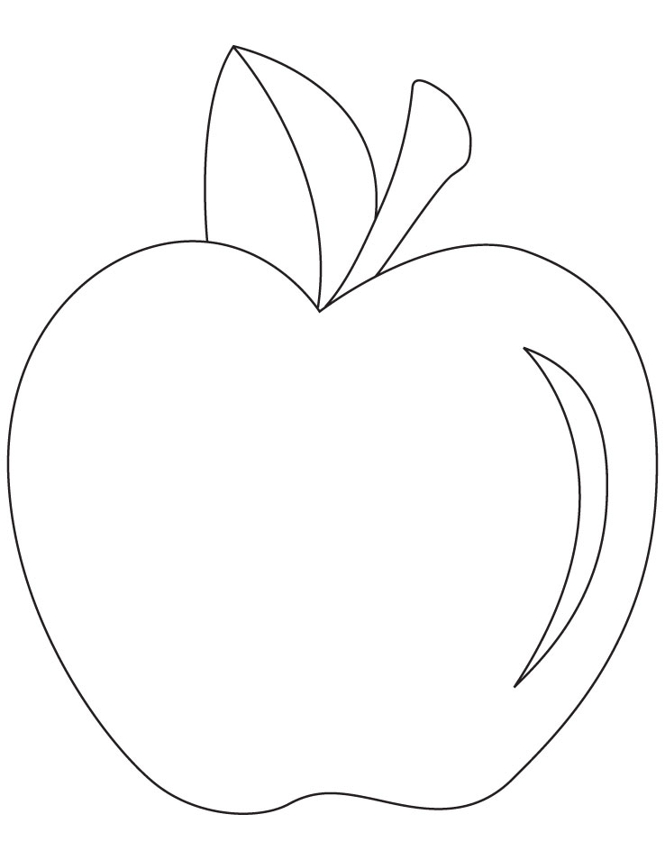 Apple Picture Coloring Pages : Printable apple coloring pages az