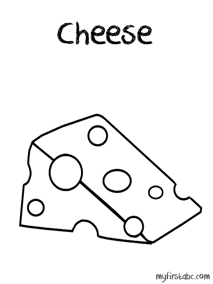 Cheese Coloring Pages To Print