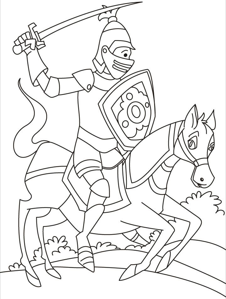 Free Coloring Pages Of Knights Jousting Coloring Pages Knights