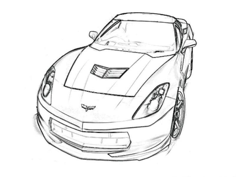 Corvette Coloring Page Coloring Home