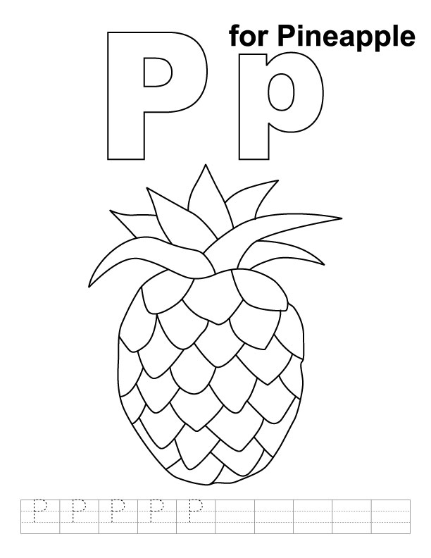 p coloring pages - photo #45