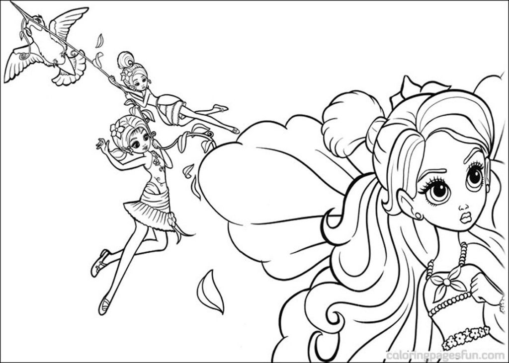 thumberlina coloring pages - photo#22