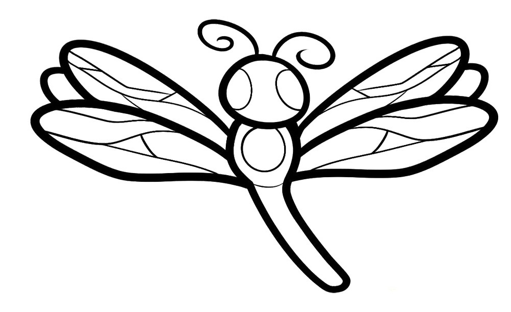 Cute Dragonfly Coloring Page Dragonfly Cute Coloring For