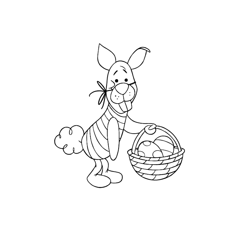 the pooh easter coloring pages - photo#5