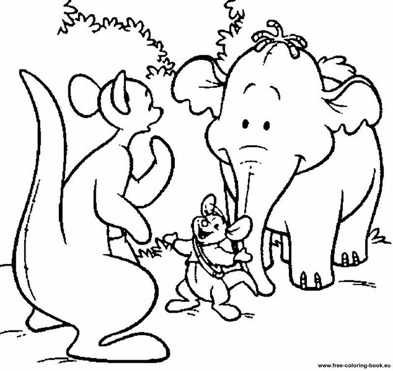 pooh gopher Colouring Pages