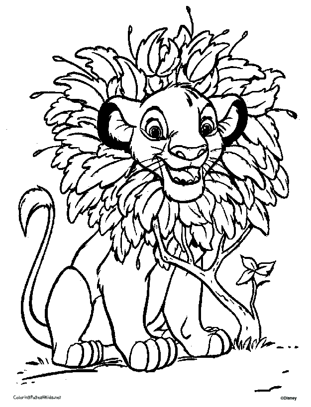 Baby Simba Coloring Pages - AZ Coloring Pages