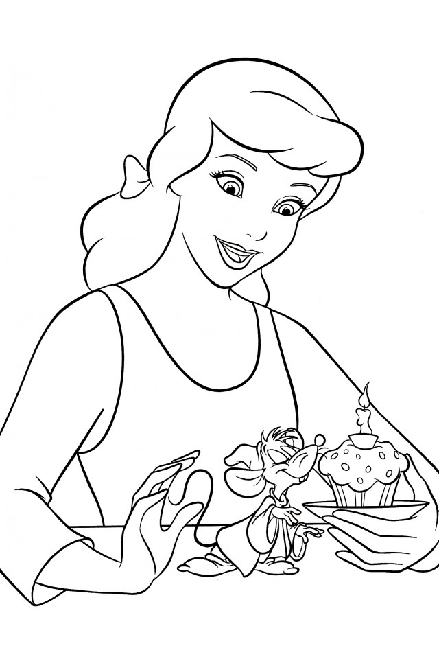 Cinderella coloring pages disney az coloring pages for Cinderella coloring pages online