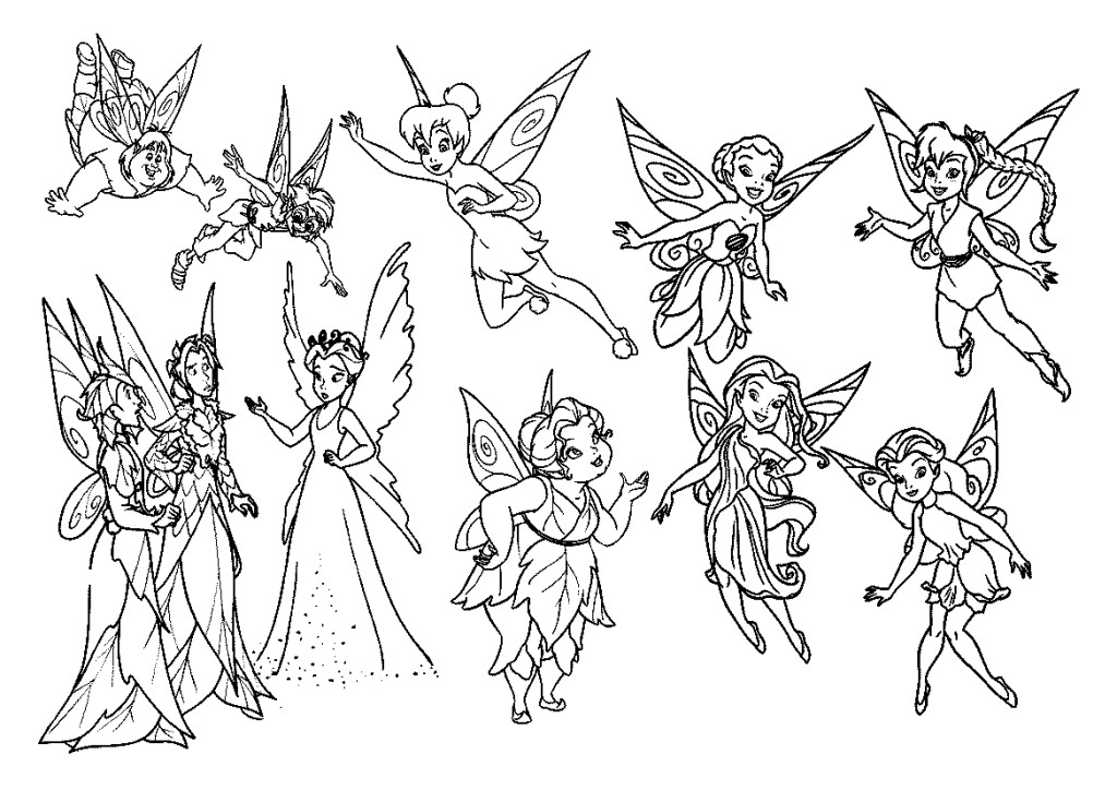 Disney Fairy Coloring Pages - Coloring For KidsColoring For Kids