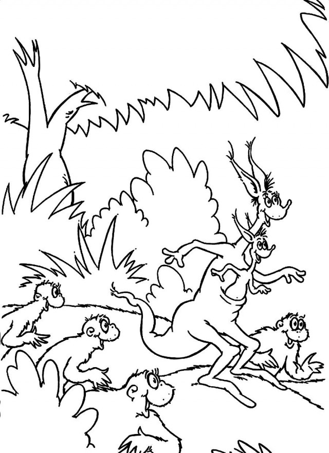 Dr Seuss Coloring Pages Free