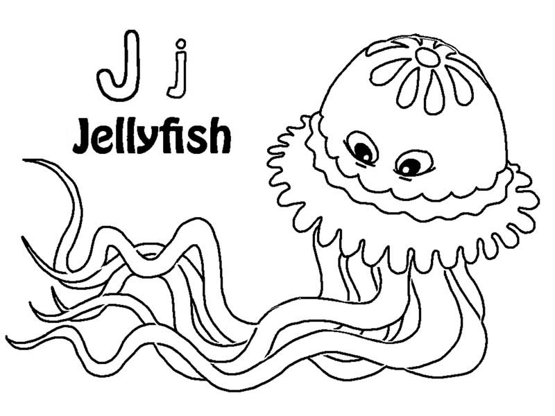 Jellyfish Coloring Pages To Print Az Coloring Pages Jellyfish Coloring Page