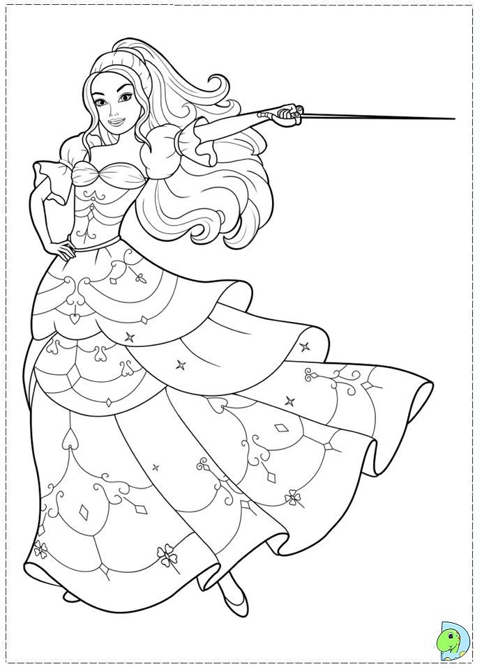Free Coloring Pages Barbie Three Musketeers : Barbie three musketeers coloring pages az