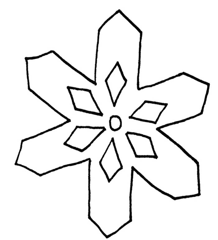 snowflake coloring pages for children - photo#19
