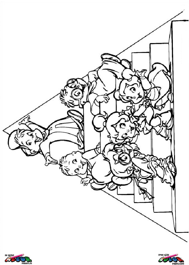 Alvin and the chipmunks printable coloring pages az for Alvin and the chipmunk coloring pages
