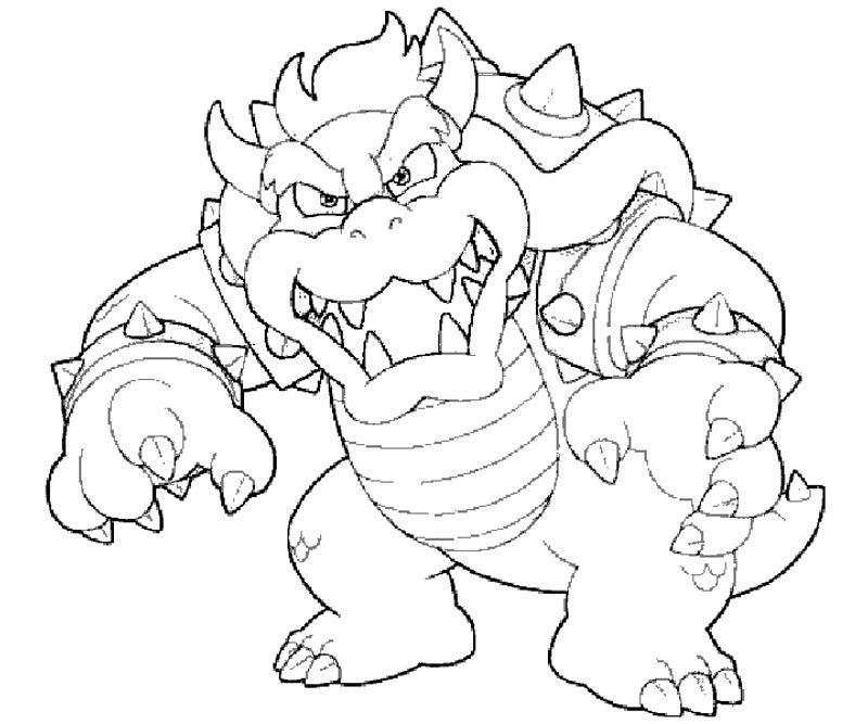 bowser coloring pages coloring pages - Bowser Coloring Pages
