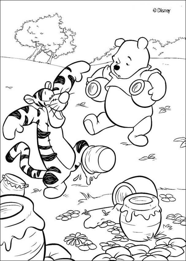 Pu Der Bär Zum Ausmalen Pu Tiger Und Ein Honigtopf