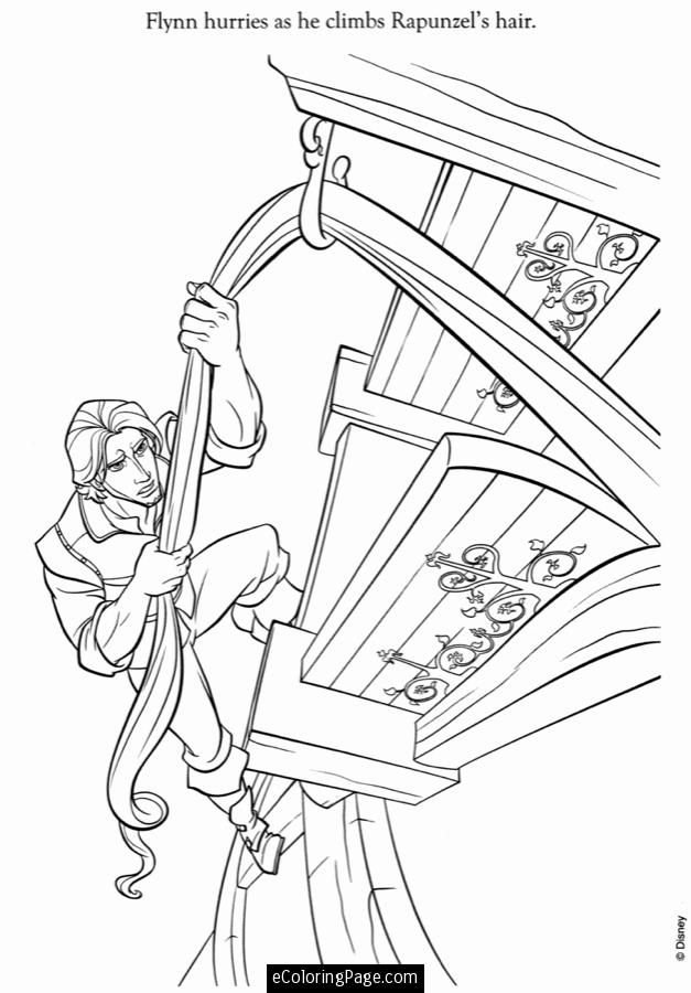 Tangled - Flynn Rider and Rapunzel coloring page | Tangled ... | 900x627