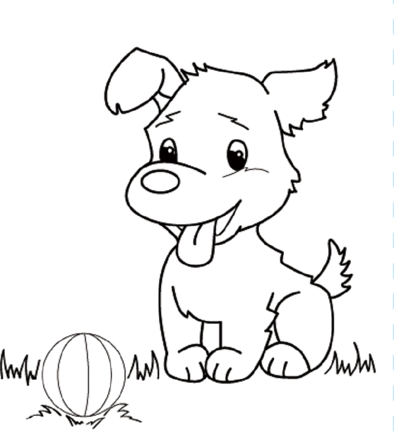 Puppies To Colour In - Coloring Home