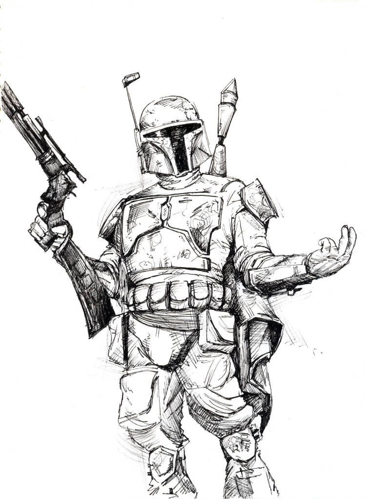 Star Wars Boba Fett Coloring Pages Coloring Home