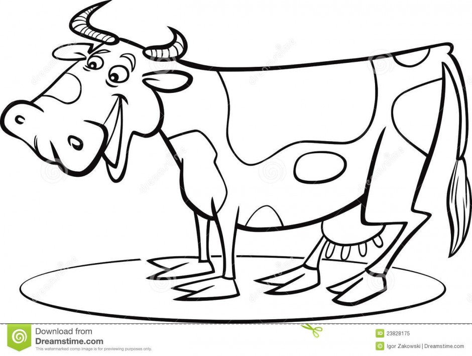 dairy cows coloring pages - photo#34