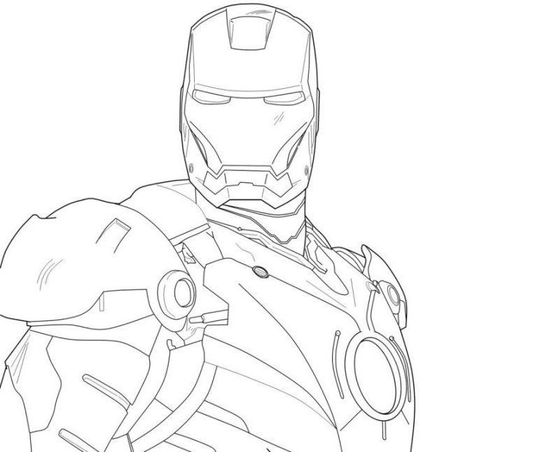Kids Coloring Iron Man 2 Pages Pictures