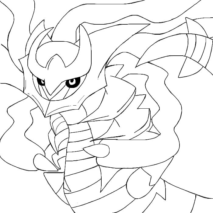 coloring pages giratina - photo#9