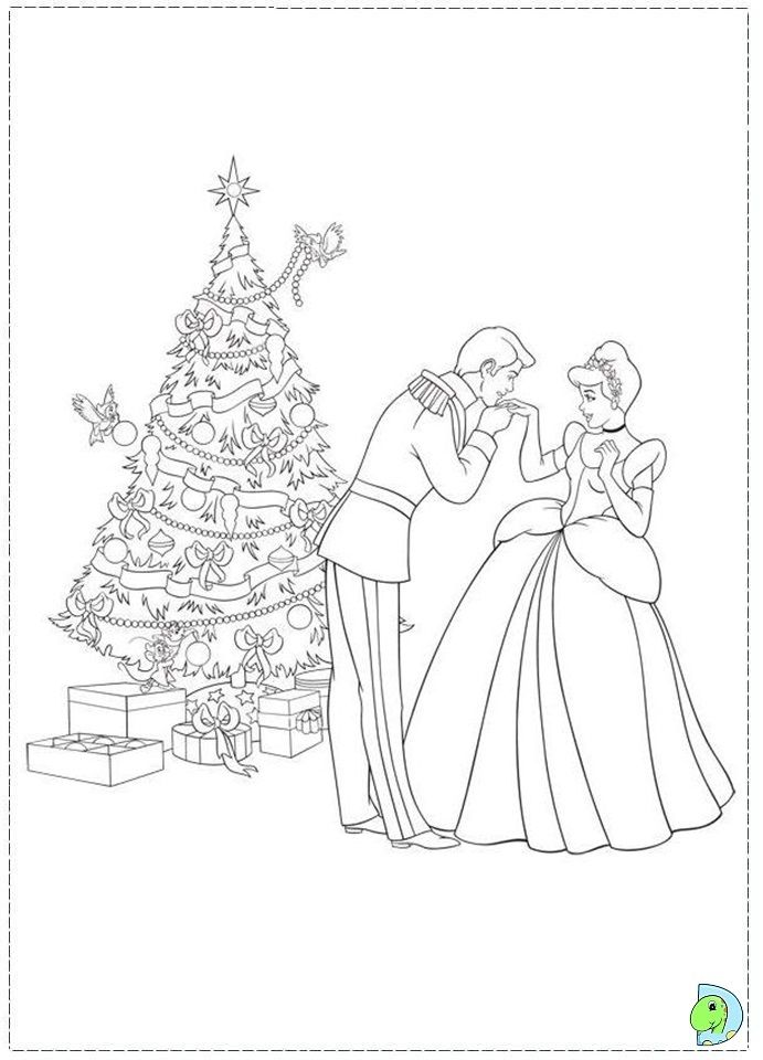 christmas princess coloring pages - photo#26