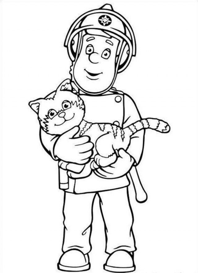 Fireman Sam Coloring Page Coloring Home Sam Coloring Pages