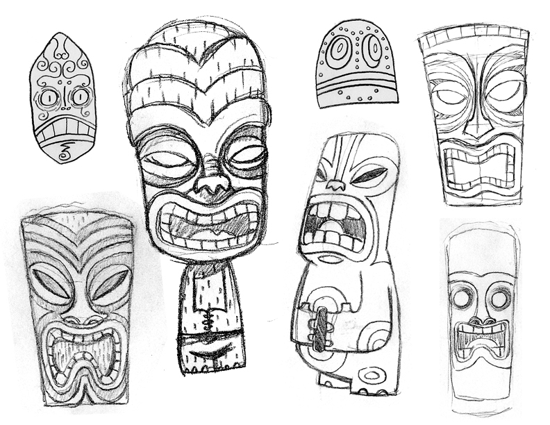 coloring pages tiki - photo #22