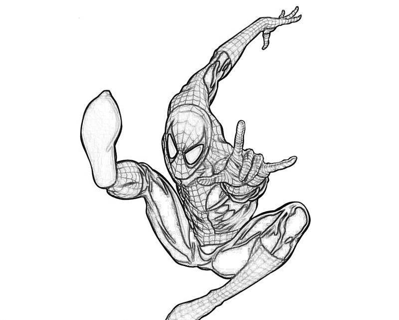 The Amazing Spiderman Coloring Pages : The Amazing Spiderman