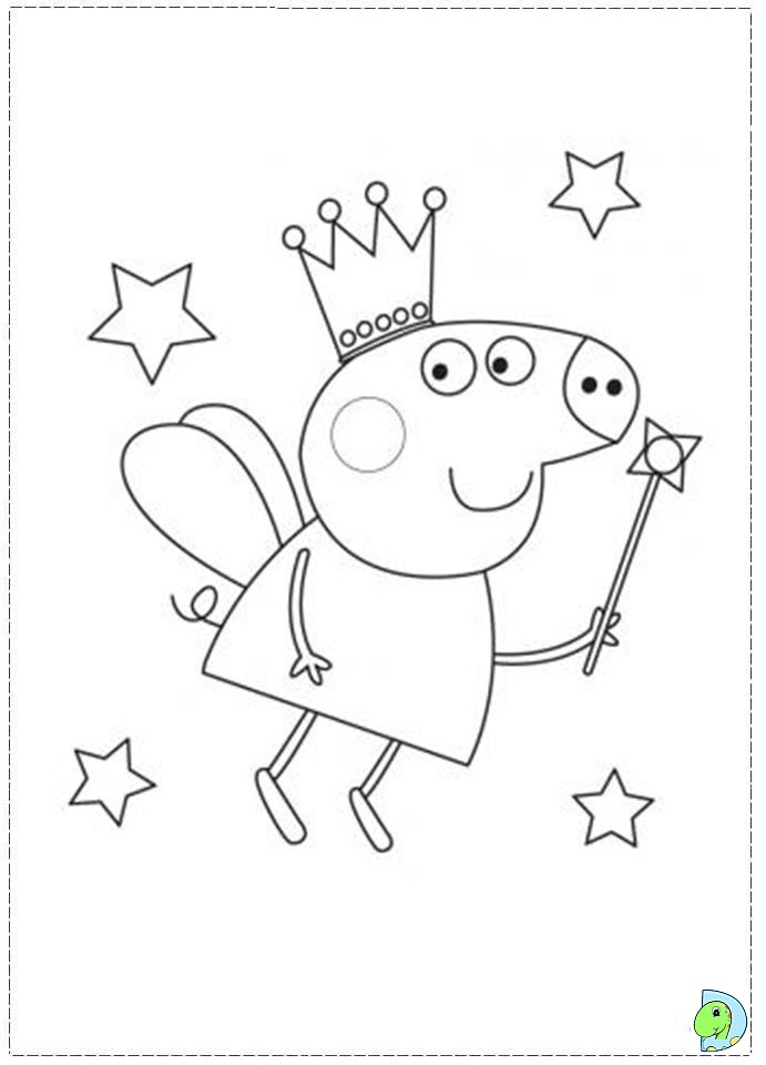Peppa pig coloring pages az coloring pages for Peppa pig cake template free