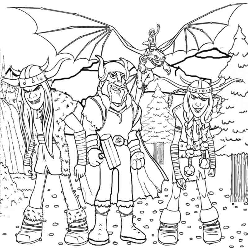 How To Train Your Dragon Coloring Pages For Kids To Print Vikings - Coloring  Home