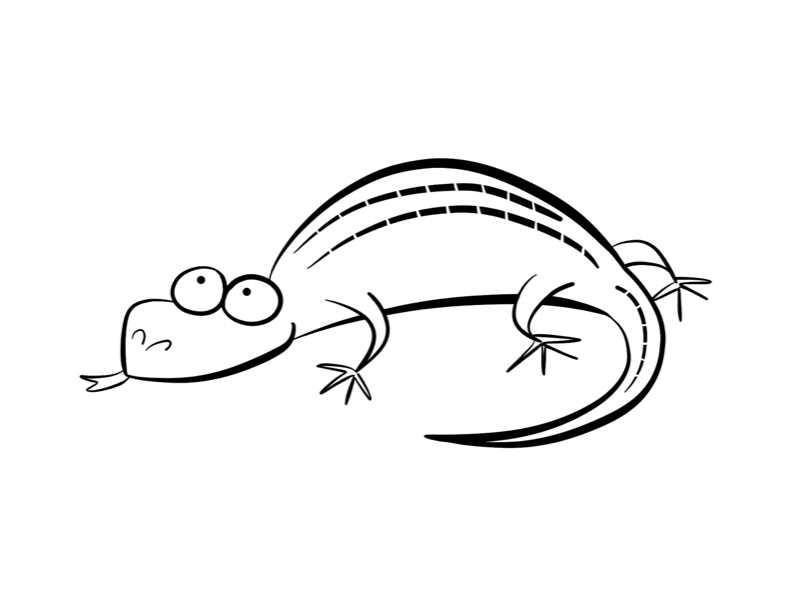 Top 10 Free Printable Lizard Coloring Pages Online | 612x792