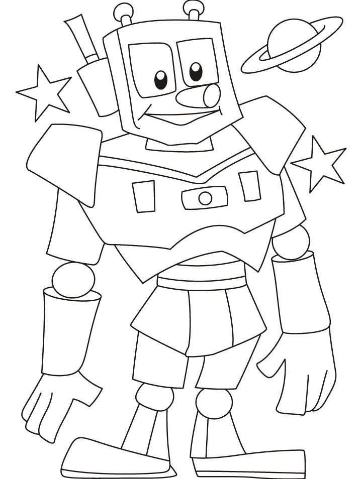 Robot Coloring Book - Coloring Home