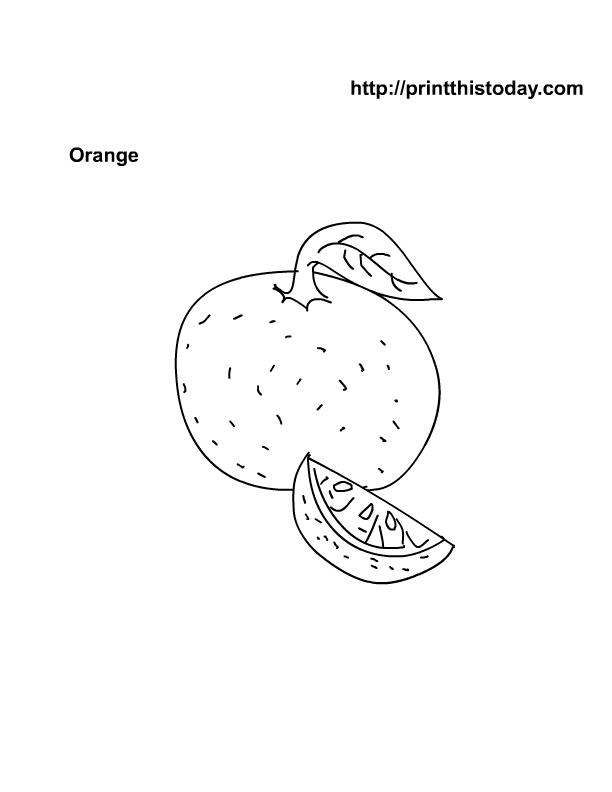 Free Printable Fruits Coloring Pages | Print This Today