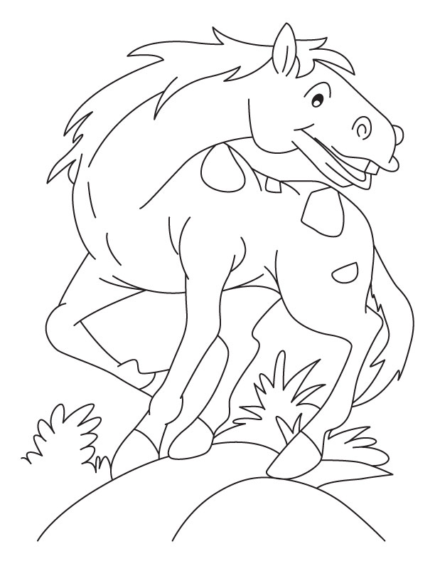 real horse coloring pages - photo#34