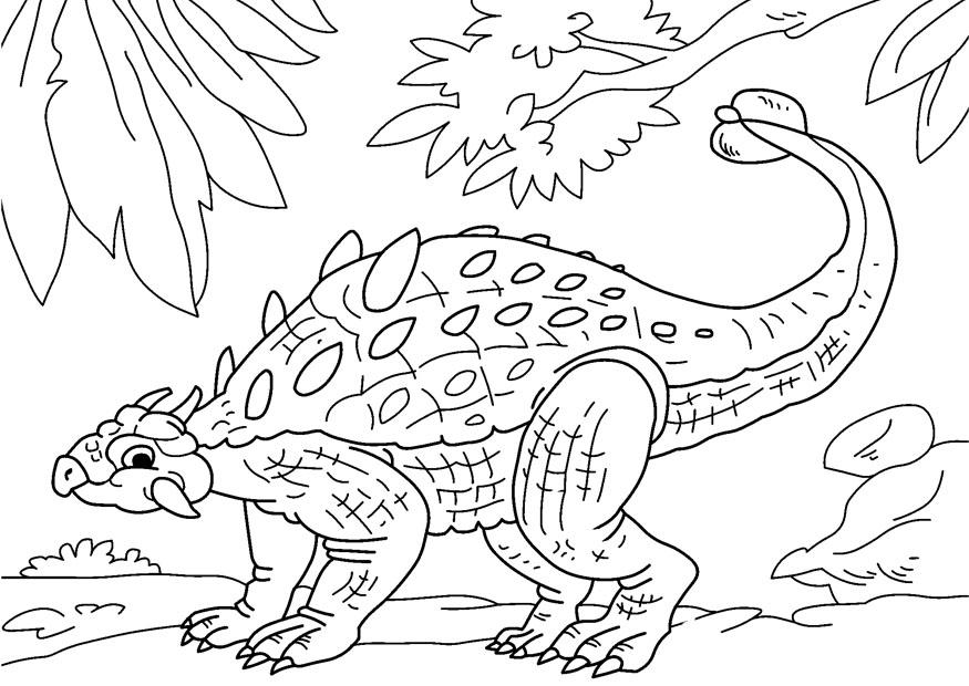 ankylosaurus coloring pages - photo#6