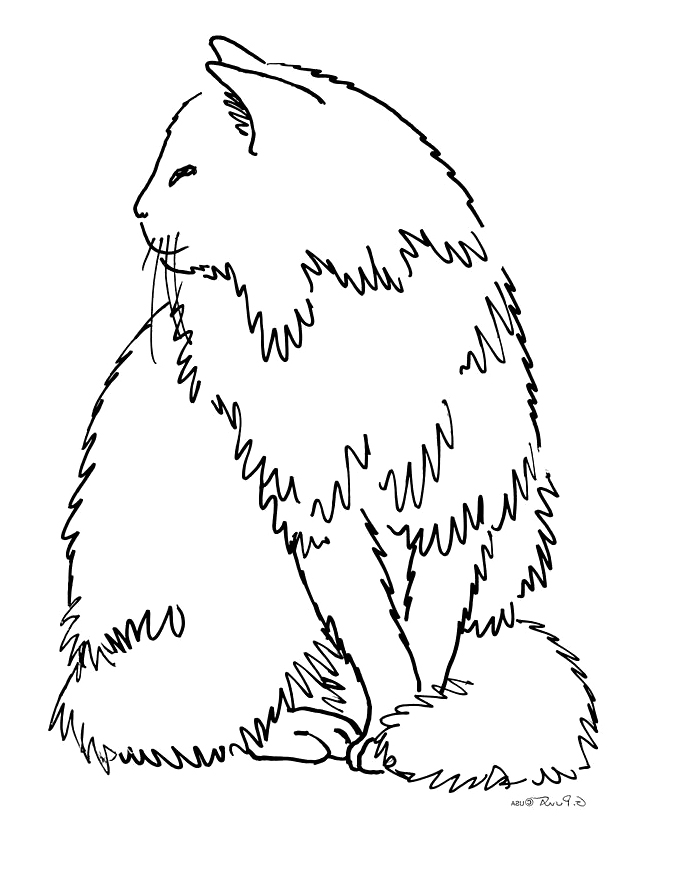 printable cat face coloring pages - photo#18
