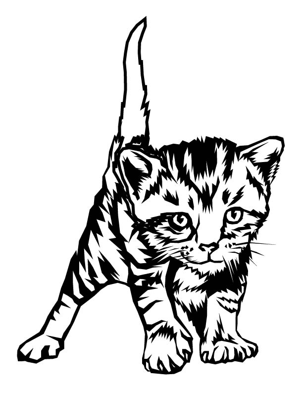 kittens coloring pages to print - kitten color page az coloring pages