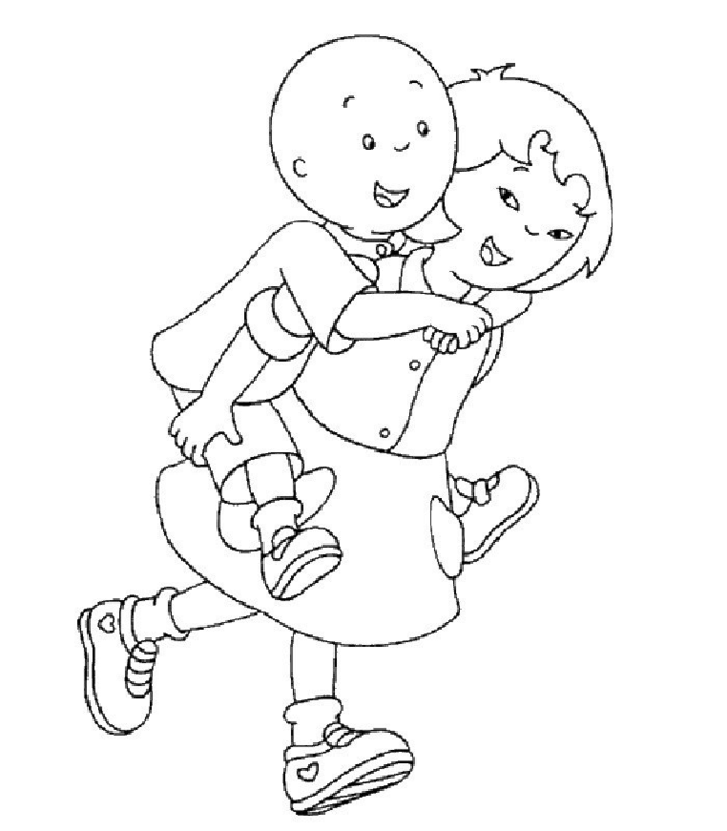 Caillou Coloring Pages Free - Coloring Home