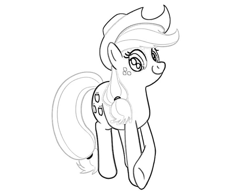 3 My Little Pony Applejack Coloring Page Coloring Home