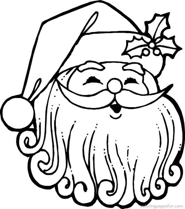 Santa claus face coloring pages az coloring pages for Santa claus coloring pages