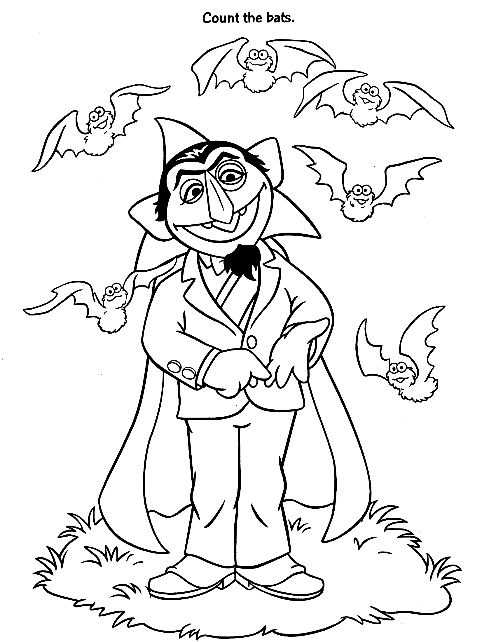 Count Von Count Coloring Pages Az Coloring Pages Counting Coloring Pages