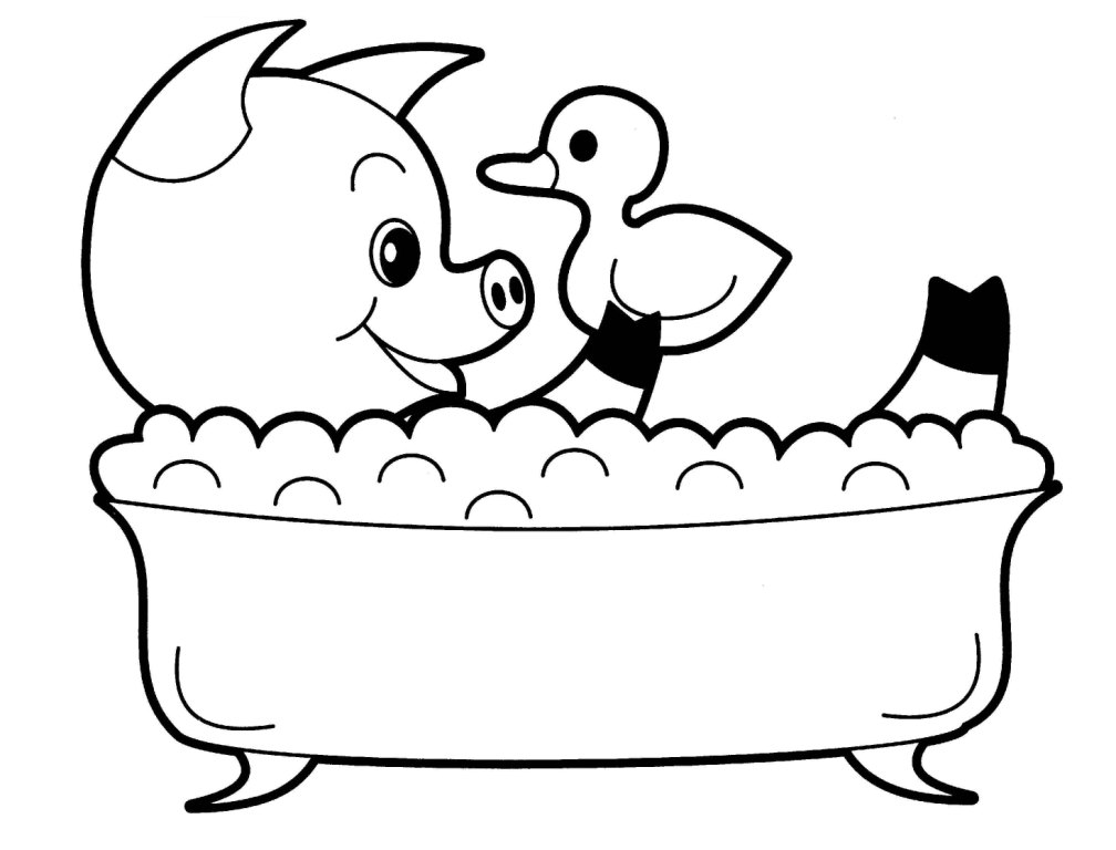 coloring pages baby animals - photo#30