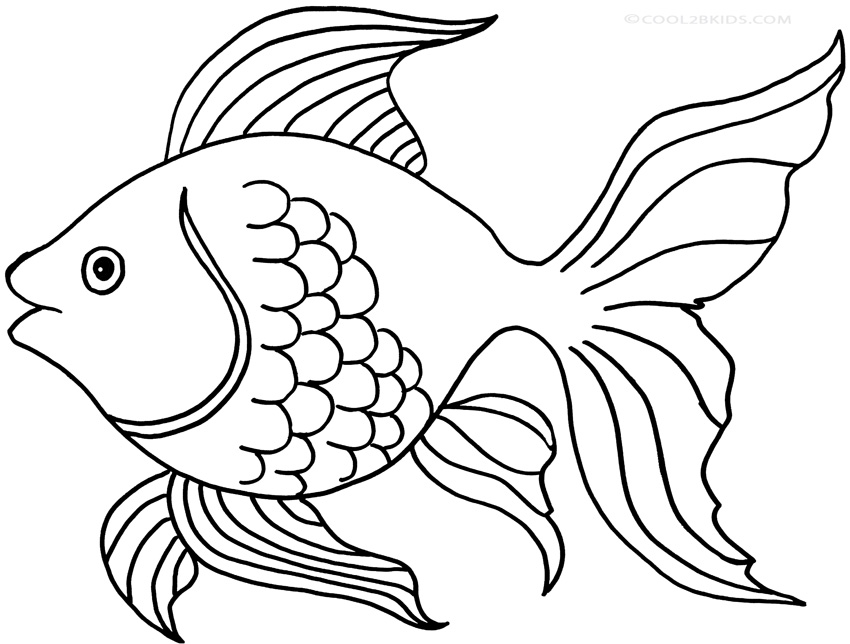 Goldfish line drawing - photo#17