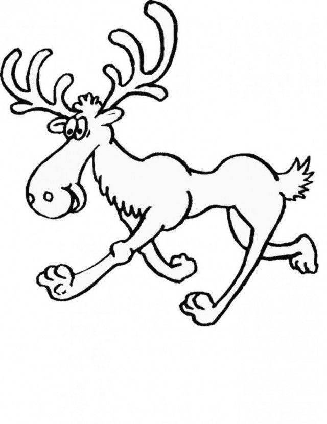 Moose Coloring Page 789 1024 Free Coloring Pages For Kids 244835