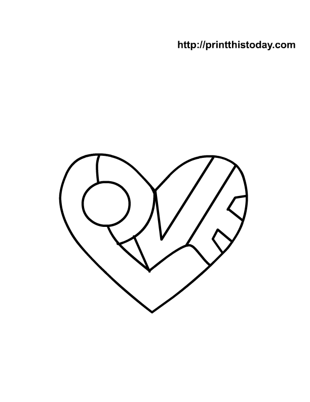 i love you coloring pages to print - photo #34