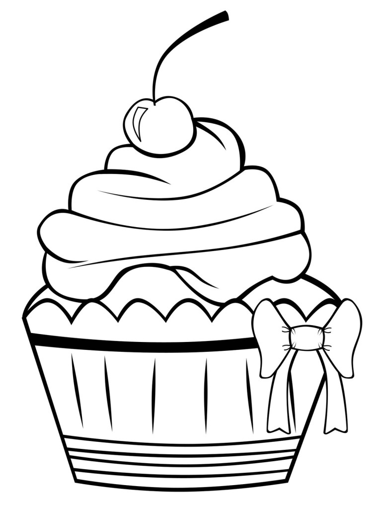 Free Printable Cupcake Coloring Pages For Kids | Free coloring