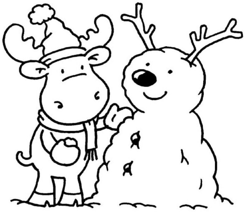 winter coloring pages kindergarten - photo#5